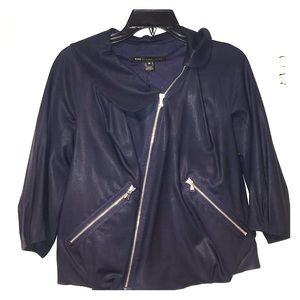 Marc by Marc Jacobs Blue Zipper Bubble Jacket